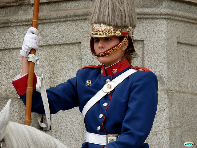 Cambio de guardia en Palacio Real