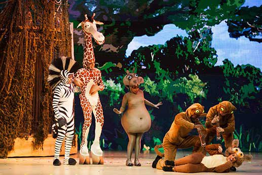 Madagascar, musical en vivo