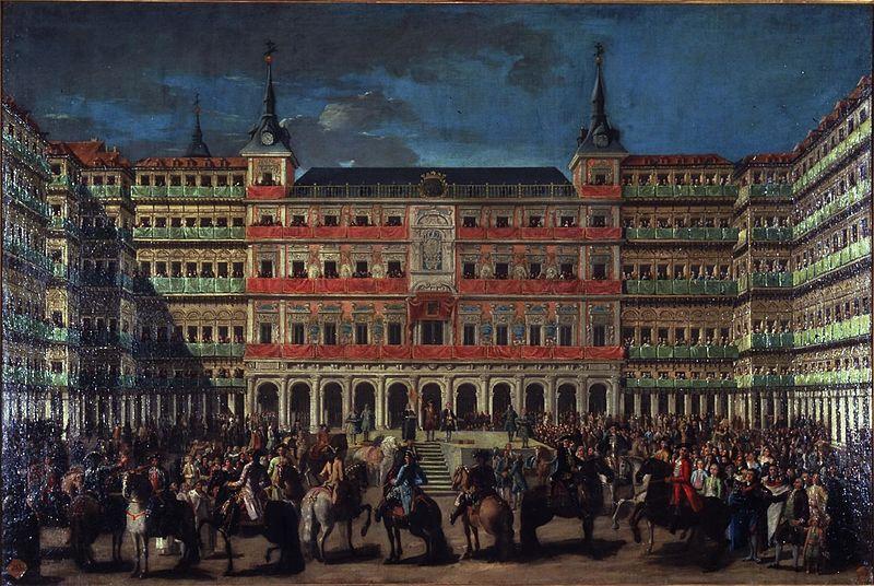 Ornato de Plaza Mayor con motivo de la entrada de Carlos III en Madrid
