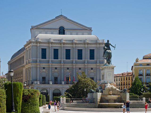 El Teatro Real y la plaza de Oriente